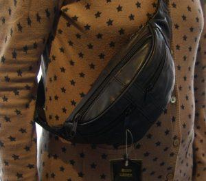 trendy bæltetaske, bumbag, læder bumbag, billig bumbag, billig bumbag i læder, bumbag i blødt skind, bæltetaske i skind