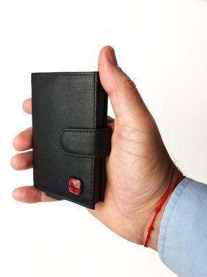 kortholder med RFID, Kortholder med RFID beskyttelse, smart kortholder, kortholder, kortholder i læder, julegaven til ham, fars dag, kortholder til manden, unisex kortholder
