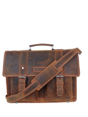 arbejdstaske i vintage look, old school skoletaske i læder, arbejdstaske, stor arbejdstaske, computertaske, lædertaske, læder taske, messenger taske