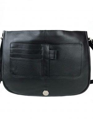 Klassisk skuldertaske, skuldertaske, sort taske, lædertaske, dametaske, crossbody taske