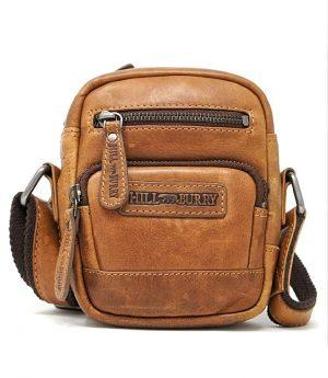 Praktisk lædertaske, kompakt lædertaske, kompakt crossbody taske, crossbody taske, skuldertaske, dametaske, herretaske, unisex taske