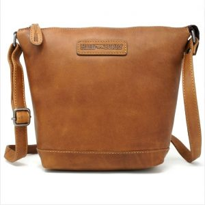 læder crossover, crossbody, crossover taske, lædertaske, modetaske, brun taske