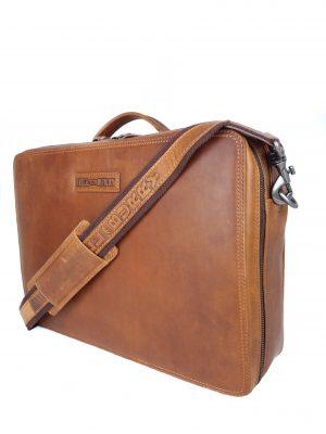 Flot arbejdstaske i læder, lædertaske, læder taske, arbejdstaske, computertaske, business taske, herretaske til arbejde
