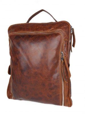 Rygsæk i italiensk læder, rummelig rygsæk, læder rygsæk, rygsæk, hverdagstaske, lædertaske, læder taske, brun læder taske