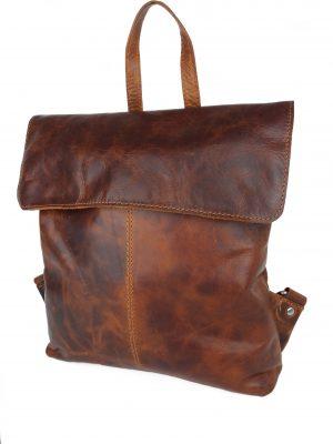 Læder rygsæk i italiensk læder, rygsæk i læder, rummelig rygsæk i læder, læder rygsæk, hverdagtaske, ferietaske