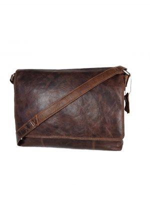 Skuldertaske i italiensk læder, lædertaske, hverdagstaske i læder, lædertaske