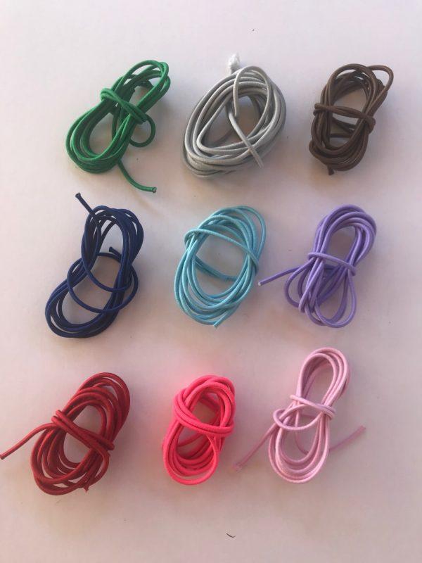 strikkeetui, strikkeetui læder, strikkeetui med farvet elastik, personligt strikkeetui