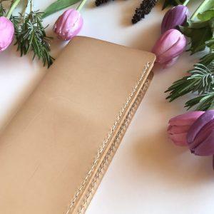 Læder rejsemappe, Rejsemappe, lædermappe til rejsedokumenter, pasholder, rejsefolder, dokumentmappe, folder til travelers notebook