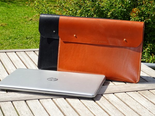 "13"" laptop sleeve, sleeve til bærbar computer, sleeve til bærbar, læder sleeve, sleeve i læder, sleeve i kernelæder, 13"" sleeve"