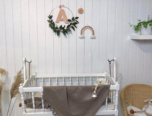 vægpynt til børneværelse, personlig vægpynt, personlig vægpynt til børneværelset, ring til dekoration, barselsgave, babyværelse, børneværelse, nursery, gudring til vægpynt