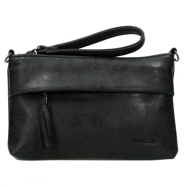 lille clutch, Sort clutch taske, lille taske, håndtaske, selskabtaske, gå-i-byen-taske, modetaske, taske med kvast, taske med tassel, lille taske med lang skulderrem