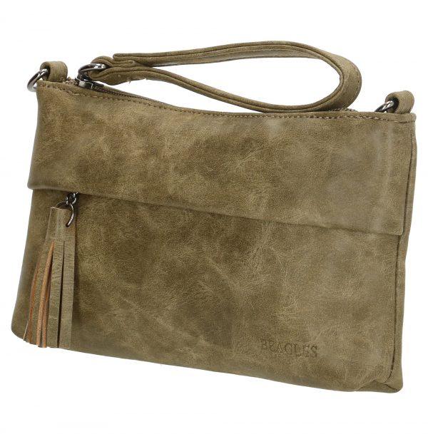 Sort clutch taske, lille taske, håndtaske, selskabtaske, gå-i-byen-taske, modetaske, taske med kvast, taske med tassel, lille taske med lang skulderrem