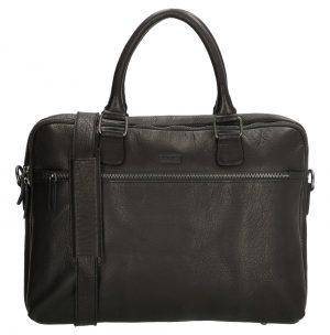 Sort læder arbejdstaske, arbejdstaske i læder, læder arbejdstaske, klassisk arbejdstaske, computertaske, business taske