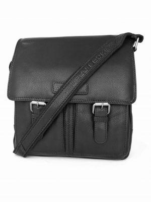 hverdagstaske fra hill burry, hverdagstaske, skuldertaske, lædertaske, sort lædertaske, sort taske