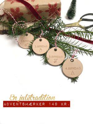Adventstal, adventsmærker, adventsgave, jul, juletraditioner, børn, jul med børn,