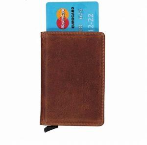 Kortholder med rfid-beskyttelse, kortholder med rfid, smart kortholder, metal kortholder, læder kortholder