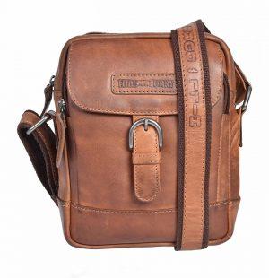 Crossovertaske, crossover, læder crossover, herretaske, lædertaske