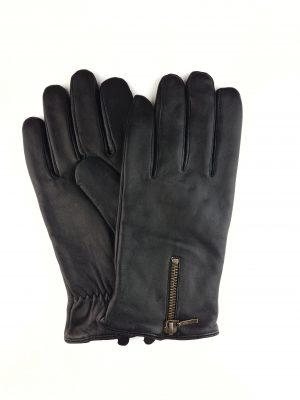 Herrehandske, herrehandske i lammeskind, herrehandske med foer, sort herrehandske, læderhandske, læderhandske herrer