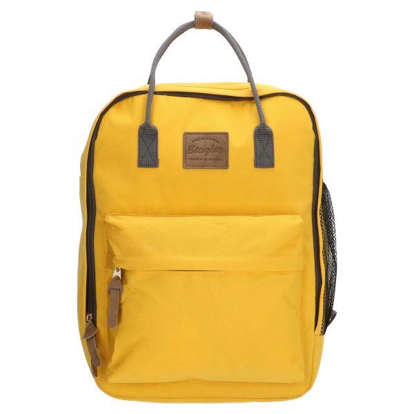 rygsæk, canvas rygsæk, skoletaske, børnehavetaske, ungdomstaske, rygsæk med farve, rygsæk med kontrast detaljer