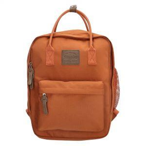 rygsæk i canvas, canvas rygsæk, populær rygsæk, populær canvas rygsæk, skoletaskerygsæk, terracotta, børnerygsæk, rygsæk til børn