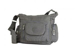 Rummelig stoftaske, letvægtstaske, Stoftaske, skuldertaske, crossbody taske,, hverdagstaske, ferietaske, rejsetaske