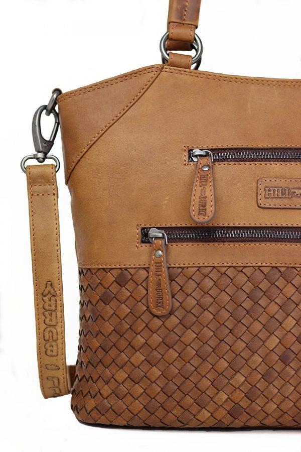 flettet skuldertaske, skuldertaske i læder, læder skuldertaske, crossbody taske, justerbar skuldertaske