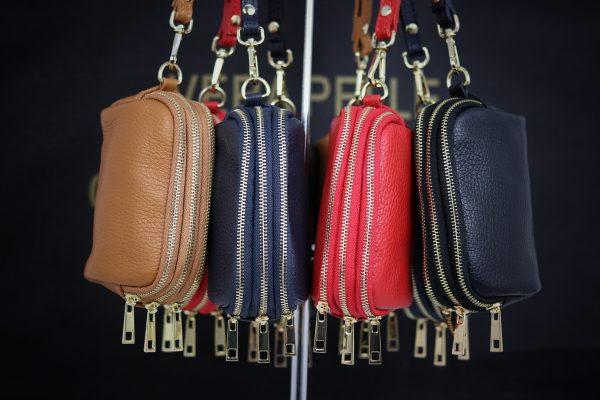 Smart møntpung, møntpung, pung i italiensk læder, læderpung, feminin pung, lille clutch