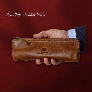 læder penalhus, penalhus, læder pouch, penne holder,