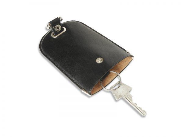 nøgleklokke i læder, nøgleklokke, nøglering, nøgleholder, nøgleetui