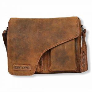 crossover, crossover i læder, læder crossbody, messenger taske, lædertaske