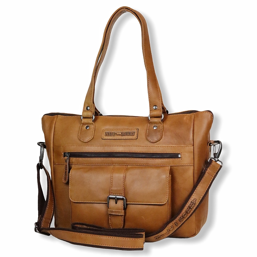 Shopper, shopper i læder, stortaske, lædertaske, brun taske, weekendtaske, weekend taske i læder