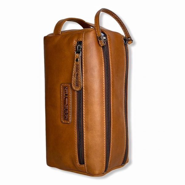 toilettaske, læder toilettaske, herretaske, rejsetaske, rejsetaske i læder, travel
