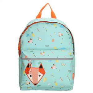 børnerygsæk med ræv, bærnetaske, skoletaske, børnehavetaske, udflugtstaske til børn