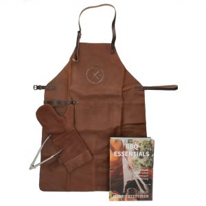 grillforklæde, grillsæt, grillhandske, grilltang, gave til grillmesteren, grillforklæde
