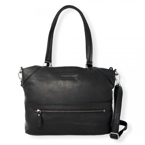 klassisk læder skuldertaske, skuldertaske, lædertaske, klassisk dametaske, dametaske, crossbody taske, læder taske,