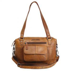 lædertaske, taske i læder, dametaske, bruntaske, læder taske i brun, crossover, skuldertaske, læder skuldertaske