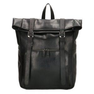 Stor læderrygsæk, stor rygsæk, læderrygsæk, rygsæk med fold i toppen, rygsæk med foldelukning, firkantet rygsæk
