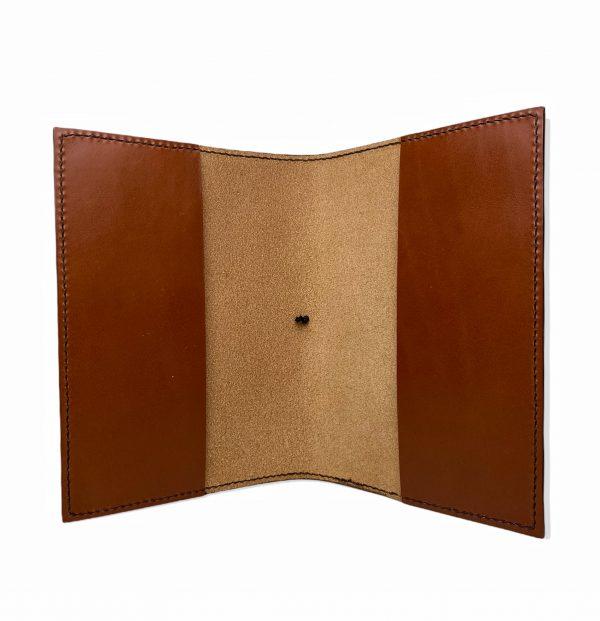 Læderomslag, læderomslag til notesbog, A5 læderomslag, A5 folio, personligt læderomslag, A5 journal cover