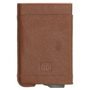 Hård kortholder, fast kortholder, kortholder, kortholder i læder, kortholder med skub-op funktion, kortetui, kort etui