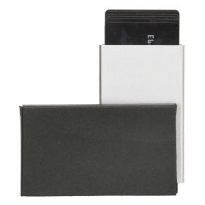 enkel hård kortholder, metal kortholder, skub-op kortholder, enkel kortholder, lille kortholder.