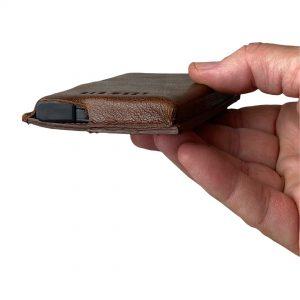 Enkel kortholder, hård kortholder, kortholder læder, kortholder med skub-op funktion, metal kortholder