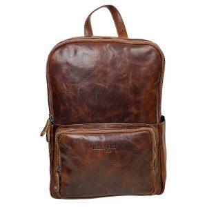Rummelig rygsæk i læder, læder rygsæk, læderrygsæk, arbejdstaske, computertaske, taske til computer, håndbagage, taske til håndbagage, kabinebagage, skoletaske, studietaske